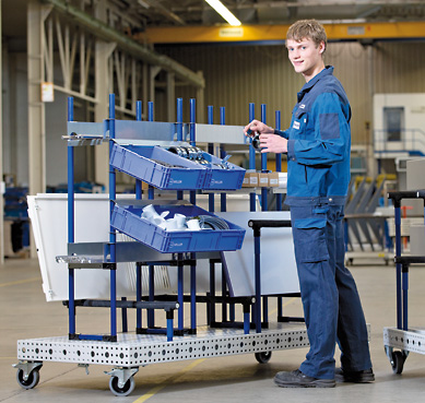 Kitting trolleys platform ergonomics picking